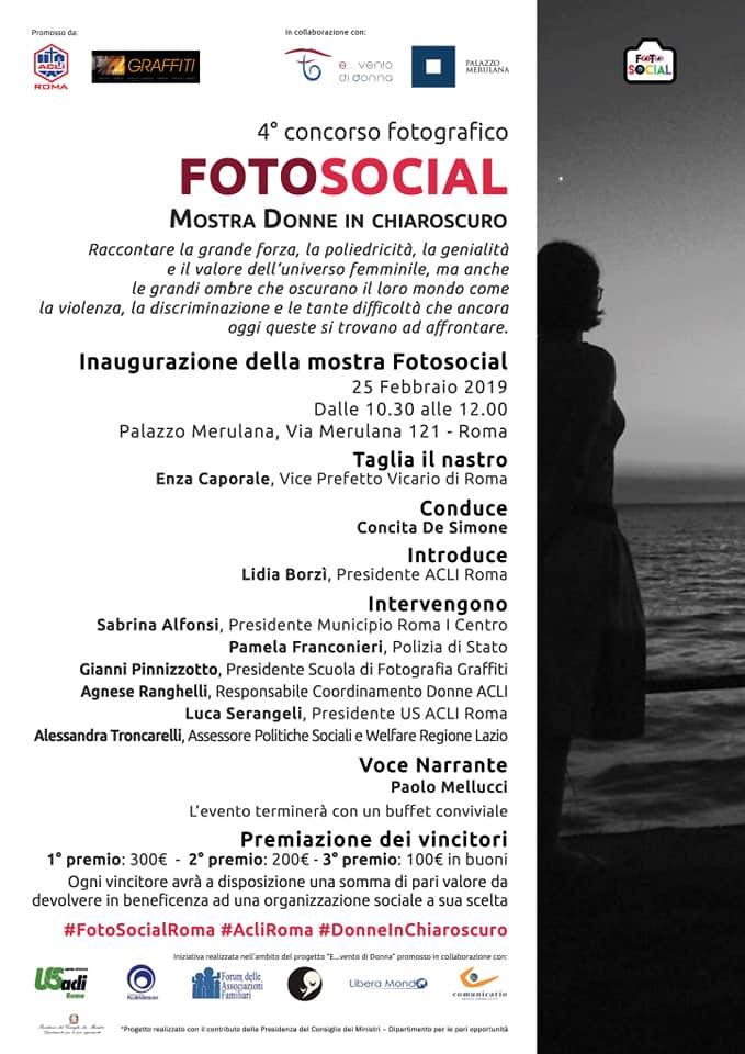 """Lunedì 25 febbraio: inaugurata la mostra """"Donne in chiaroscuro"""" a Palazzo Merulana"""